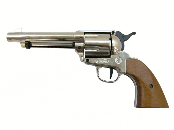 Plynový revolver Bruni Single Action Peacemaker chrom kal.9mm